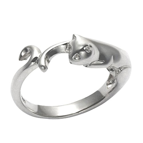 Sterling Silver Cat Body Ring (7)