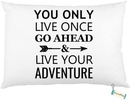 FavorPlus You Only Live Once Go Ahead and Live Your Adventure Adventure Standard Size Bed Rectangle product image