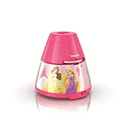 Philips 717692848 Princess Disney 2-in-1 Projector and Night Light, 4.53 x 4.53 x 4.65, Pink
