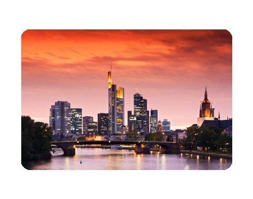 Apalis Selbstklebendes Wandbild Frankfurt Skyline Frankfurt Deutschland Stadt, Größe:108cm x 162cm