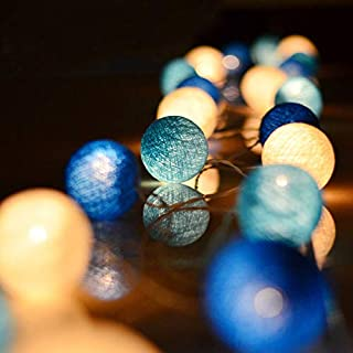 ALUNME 20 Led Cotton Ball Globe String Lights Waterproof Indoor Led String Lights Home Bedroom Christmas Decorations