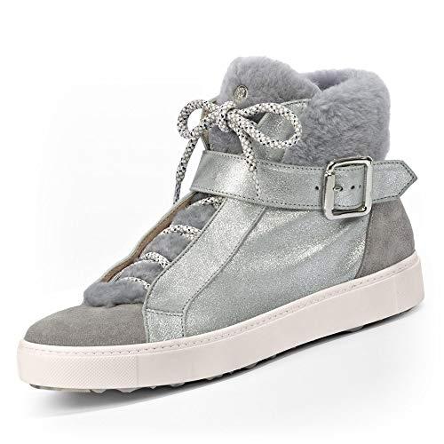 MARCCAIN High-Top Sneaker Größe 40 EU Silbergrey