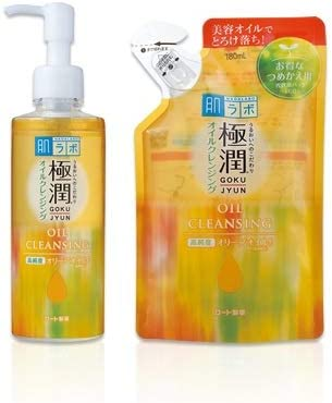 Rohto Hadalabo Gokujyun Oil Cleansing 200ml bottle 180ml Refill Pouch Set Japan Import product image