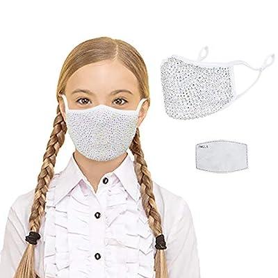 CCbodily Halloween Kunoichi Masquerade Mask for Women - Rhinestone Masquerade Mask Necklace Jewelry for Women