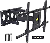 FORGING MOUNT TV Wall Mount Bracket Full Motion TV Mount for Most 37-75 Inch Flat Screen/Curved TVs Swivel Dual Articulating Arms Extension Rotation Tilt Max VESA 600×400mm Holds up to 132lbs