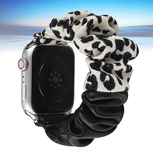 KAEGREEL Scrunchie Elastic Band Compatible con Apple Watch Strap 38 mm 42 mm 40 mm 44 mm, Correa de Reloj Suave para Mujer, Pulsera de Repuesto para iWatch SE/Series 6/5/4/3/2/1,C,42/44mm