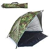 MSGF 2 Personnes Tente de Camping Single Couche Tente extérieure Anti UV Beach Tents Sun Shelers Shade auvent pour Pêche Picnic Park 0922 (Color : Camouflage)