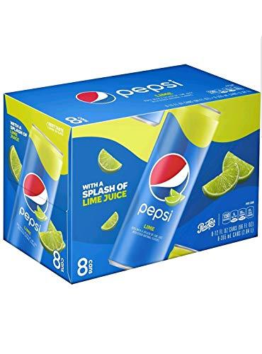 Pepsi Lime 12oz 8Pk Sleek Cans, 96 Fl Oz