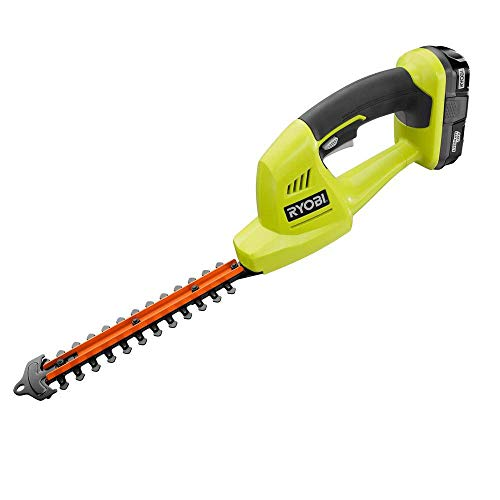 Ryobi 18-Volt Lithium-Ion Cordless Grass Shear and Shrubber Trimmer - 1.3 Ah Battery and Charger