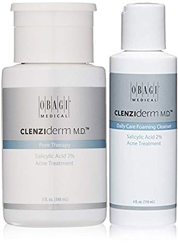 Obagi CLENZIderm M.D. Daily Care Foaming Cleanser Salicylic Acid 2% Acne Treatment And Obagi CLENZIderm M.D. Pore Therapy Salicylic Acid 2% Acne Treatment.