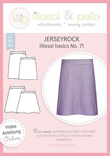 lillesol & pelle Schnittmuster lillesol Basics No.71 Jerseyrock in Größe 80-164 zum Nähen mit Foto-Anleitung und Video