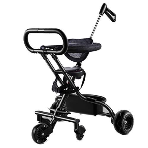 Chariot à cinq roues pour enfants, baby-doll avec tricycle pour bébé, pliage léger pour bébé, chariot à parapluie pour bébé