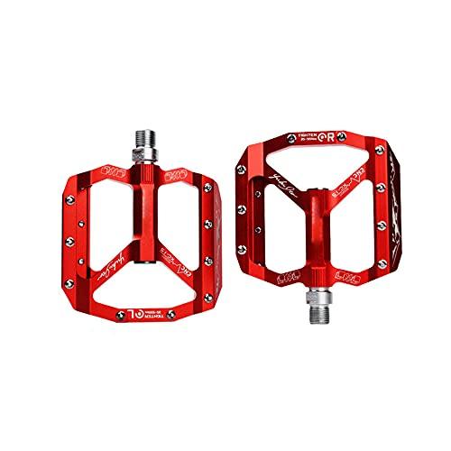 XGLIPQ Pedales de Bicicleta de montaña de aleación de Aluminio ultraligeros, Pedales de Bicicleta de aleación de Aluminio Antideslizantes, Pedales de MTB ultraligeros, Pedales de rodamientos sellados