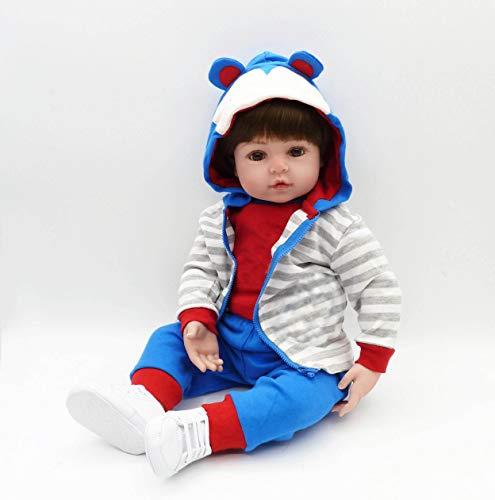 iCradle - Muñeca Reborn para niña, 55 cm, Looks Reallife Simulación Bebe Reborn Muñeca Reborn Niña realista, Toddler Juguetes realistas Regalos de cumpleaños Navidad