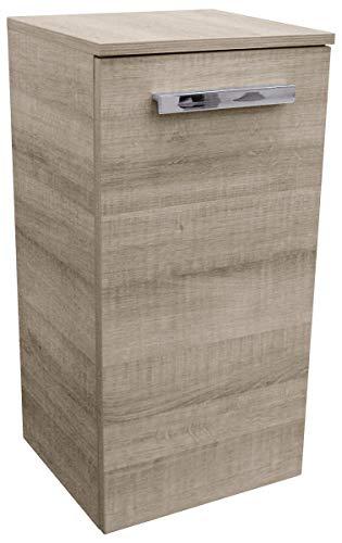FACKELMANN Unterschrank A-VERO / Badschrank mit gedämpften Scharnieren / Maße (B x H x T): ca. 35 x 69 x 32 cm / hochwertiger Schrank fürs Badezimmer / Korpus: Braun hell / Front: Braun hell