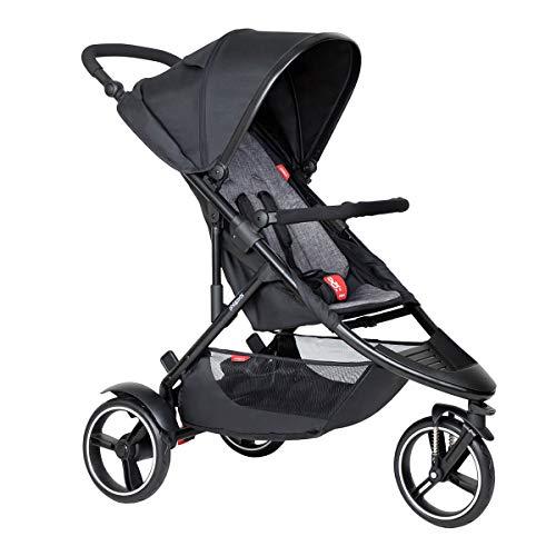 Phil&teds Dot V6 2019+ Kinderwagen, Buggy mit Sitzauflage charcoal