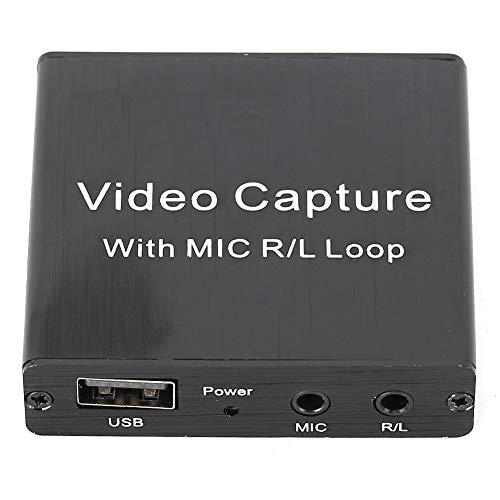 ✨Valentine's Day Present✨Scheda di acquisizione video USB ad alta definizione, acquisizione live ad alta definizione Scheda di acquisizione video USB con uscita stereo da 3,5 mm, per scatola di regist