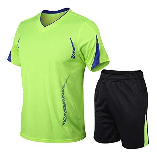 TANERDD Basketball-Bekleidung Anzug Tops und Shorts Jungen Sommer Männer Sportbekleidung Anzug Training Weste Hosen,Grün,XL