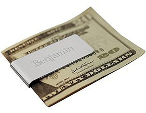 monogrammed leather money clip - 3