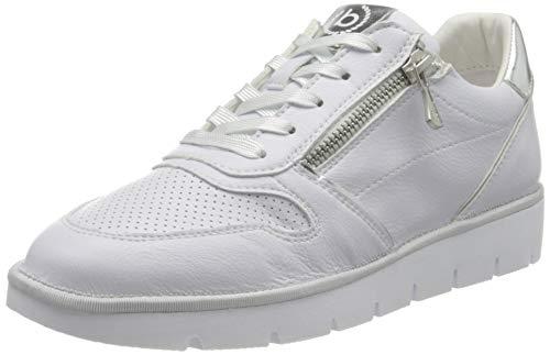 bugatti 431A2Q015059, Zapatillas Mujer, White/Silver, 37 EU