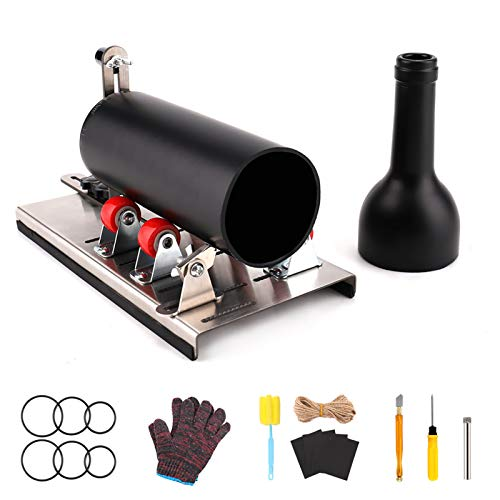 HALOVIE Glass Cutter Round Bottle Tool Cutting Machine DIY Kit for Cutting Wine Beer Whiskey Alcohol Champagne Soda Bottle