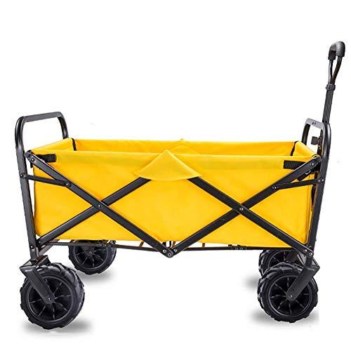 XBR Carro Plegable Plegable Carro utilitario Carro de jardín para Acampar Carro Deportivo de Servicio Pesado para Exteriores/Festivales/Camping, 90 kg / 198 Libras de Capacidad, D: Morado Impermeable
