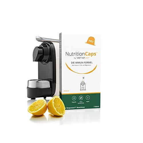 Vervedo® Die Immun Formel - Der hochdosierte Immun-Komplex aus Vitamin C, Zink und Magnesium - kompatibel mit jeder Nespresso Kaffee-Maschine erfrischender Zitronengeschmack