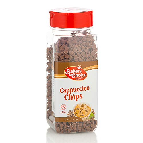 Cappuccino Flavored Chocolate Chips - Dairy Free, Kosher - 9 oz. - Baker's Choice