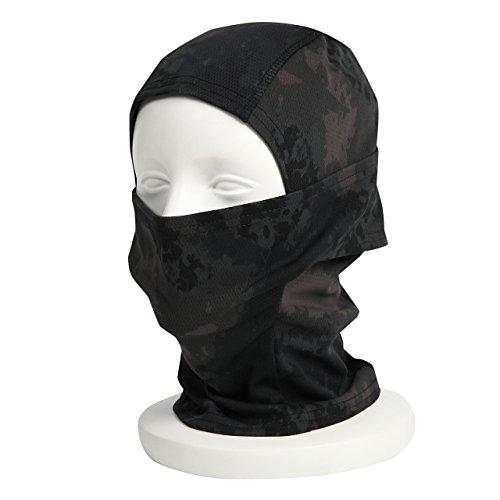 『【ノーブランド品】3Way フェイスマスク アーミー バラクラバ ミリタリー (ブラック迷彩)』の1枚目の画像