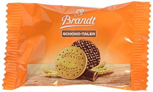 Brandt Schoko-Taler - 2er Packs - Cateringkarton mit 60 Packungen - ballaststoffreicher Vollkornkeks mit zarter Schokoladenhälfte (60 x 19 g)