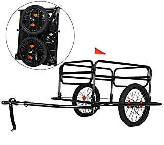 AXABING Outdoor Bike Trailer Bike Wheels Wanderer Foldable Pet Car Carrier Bicycle Cargo Luggage Trailer