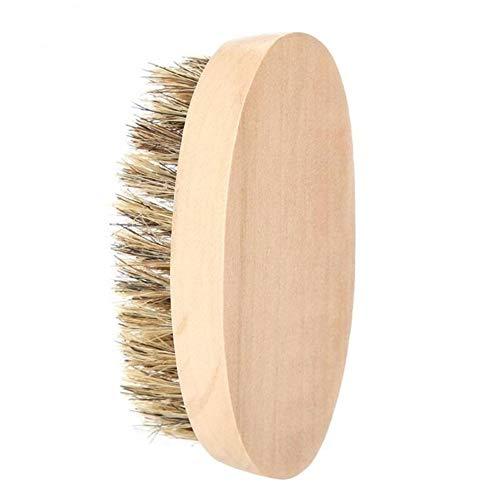 Brush Hommes Doux Barbe Brosse Mustache Peigne Ovale en Bambou poignée Barber Salon Barbe Mise en Forme d'outils Beard Outil de Nettoyage Blaireau Shaving