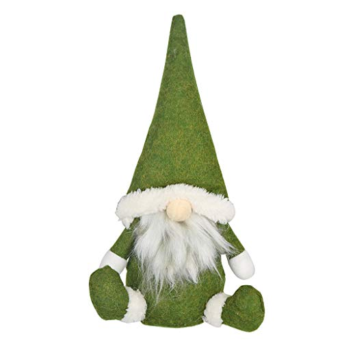 FBGood - Decoración navideña para muñeca, diseño de Papá Noel, Verde, Vert