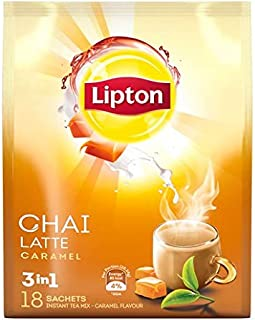 Lipton Chai Latte 3in1 Instant Tea Caramel, 18 Sachets