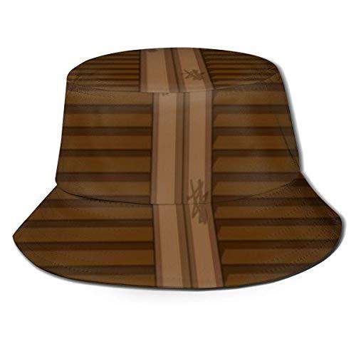 Gorras Ventana Vieja Hecha de Madera Sombrero de Pescador Unisex Sombrero de Cubo Gorra de protección Solar Pesca Sol al Aire Libre Sombrero de Playa