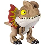 Jurassic World Snap Squad Dilophosaurus - Small Scale Collectible Dinosaur ~ Wave 5 ~ Brown Dilophasaurus