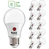 Sunco Lighting 10 Pack A19 LED Bulb with Dusk-to-Dawn, 9W=60W, 800 LM, 4000K Cool White, Auto On/Off Photocell Sensor - UL