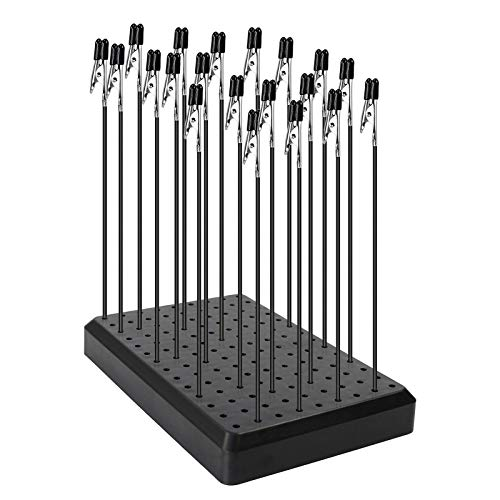 GJJC09B 1PC Painting Stand Base and 20PCS Alligator Clip Stick Set Modeling Tools for Airbrush Hobby Model Parts New