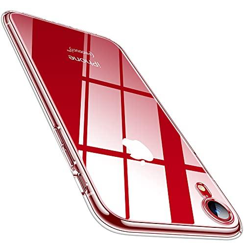 TORRAS Crystal Clear für iPhone XR Hülle (Dünn, Vergilbungsfrei) Militärschutz Handyhülle iPhone XR Case Silikon Soft Bumper Durchsichtige Kratzfest Schutzhülle iPhone XR (Transparent)