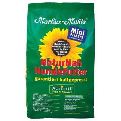 Markus Mühle NaturNah Mini Glutenfrei kaltgepresstes Trockenfutter für kleine Rassen ausgewachsene Hunde mit hohem Proteingehalt und wohltuenden natürlichen Inhaltsstoffen, 5 kg