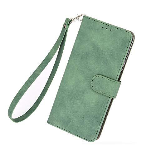 ケース 対応機種「 Redmi Note 10 Pro 」 [KAIDON] [モデル番号: C13-003#] 良質PUレザー マグネット開閉 カード収納 手帳型 ケース カバー (緑)