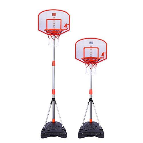 BOROK Kinder Spielzeug Basketballständer Verstellbar auf Fuß 170cm mit DISPOSITIF Rating-Basketball Stand Goal Holder