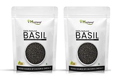 HASHPOP Raw Basil Seeds for Weight Loss (50GM) (PACK OF 2)