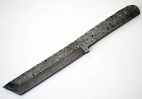 Whole Earth Supply Damascus High Carbon Steel Tanto Hunting Blank Blade Knife Knives Japanese Samurai Custom Making