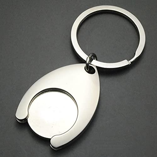 tggh Llavero personalizado con letras personalizadas, diseño enchufable para llavero de coche (color: plata)