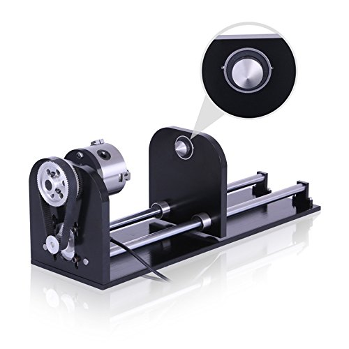 CNCShop CNC Router Rotary Axis Rotary Attachment for CO2 Laser Engraving Cutting Machine with 80mm Tailstock A-Axis Rotational Newest Design (Rotary AXIS)