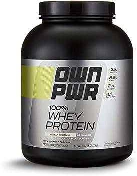 OWN PWR 100% Whey Protein Powder, Vanilla Ice Cream, 5 lb