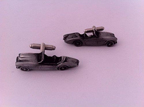 Austin Healey 100/4 (capot 3D-Boutons de manchette Homme-Classique-Bouton de manchette en étain effet ref23