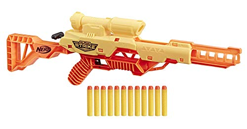 Nerf Alpha Strike Wolf LR-1 Juguete Blaster con Alcance de Objetivo, Incluye 12 Dardos Oficiales Elite, para niños, Adolescentes, Adultos (Hasbro E7567EU4)