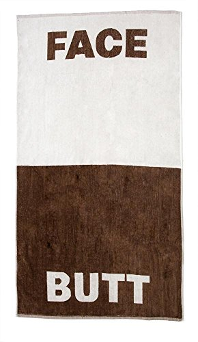"""Price comparison product image Lady Sandra Home Fashions The Face / Butt Towel / 100% Cotton Beach or Bath Towel 30"""" x 56"""" / Practical & Novelty Gift"""